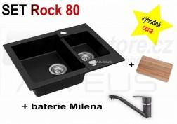 SET granitový dřez Alveus Rock 80 + BATERIE různé druhy