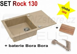 SET granitový dřez Alveus Rock 130 + BATERIE různé druhy