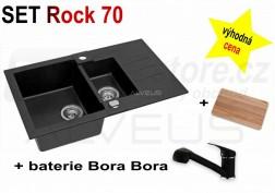 SET granitový dřez Alveus Rock 70 + BATERIE různé druhy
