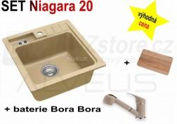 SET granitový dřez Alveus Niagara 20 + BATERIE různé druhy