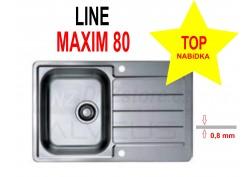 Nerezový dřez Alveus Line Maxim 80