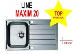 Nerezový dřez Alveus Line Maxim 20 (I)