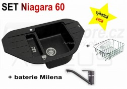 SET granitový dřez Alveus Niagara 60 + BATERIE různé druhy