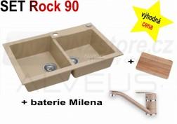 SET granitový dřez Alveus Rock 90 + BATERIE různé druhy