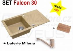 SET granitový dřez Alveus Falcon 30 + BATERIE různé druhy
