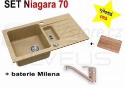 SET granitový dřez Alveus Niagara 70 + BATERIE různé druhy
