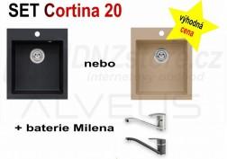 SET granitový dřez Alveus Cortina 20 + BATERIE různé druhy + DÁREK zdarma