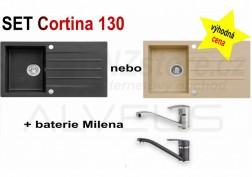 SET granitový dřez Alveus Cortina 130 + BATERIE různé druhy + DÁREK zdarma