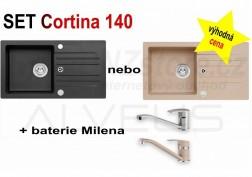 SET granitový dřez Alveus Cortina 140 + BATERIE různé druhy + DÁREK zdarma