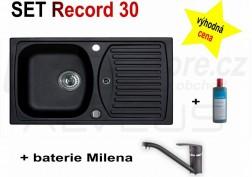 SET granitový dřez Alveus Record 30 + BATERIE různé druhy