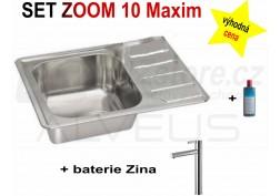SET nerezový dřez Alveus Zoom Maxim 10 + BATERIE různé druhy + DÁREK zdarma