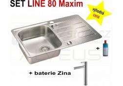 SET nerezový dřez Alveus Line Maxim 80 + BATERIE různé druhy + DÁREK zdarma