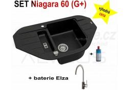 SET granital (G+) dřez Alveus Niagara 60 + BATERIE různé druhy