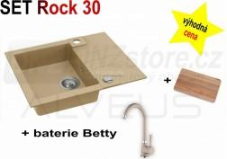 SET granitový dřez Alveus Rock 30 + BATERIE různé druhy