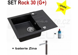 SET granital (G+) dřez Alveus Rock 30 + BATERIE různé druhy