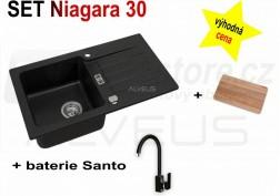 SET granitový dřez Alveus Niagara 30 + BATERIE různé druhy