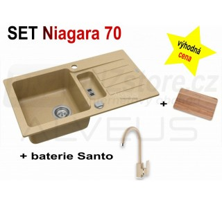SET Alveus Niagara 70 + Santo/Lucy + deska