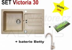 SET granitový dřez Alveus Victoria 30 + BATERIE různé druhy