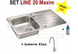 SET nerezový dřez Alveus Line Maxim 20 + BATERIE různé druhy + DÁREK zdarma